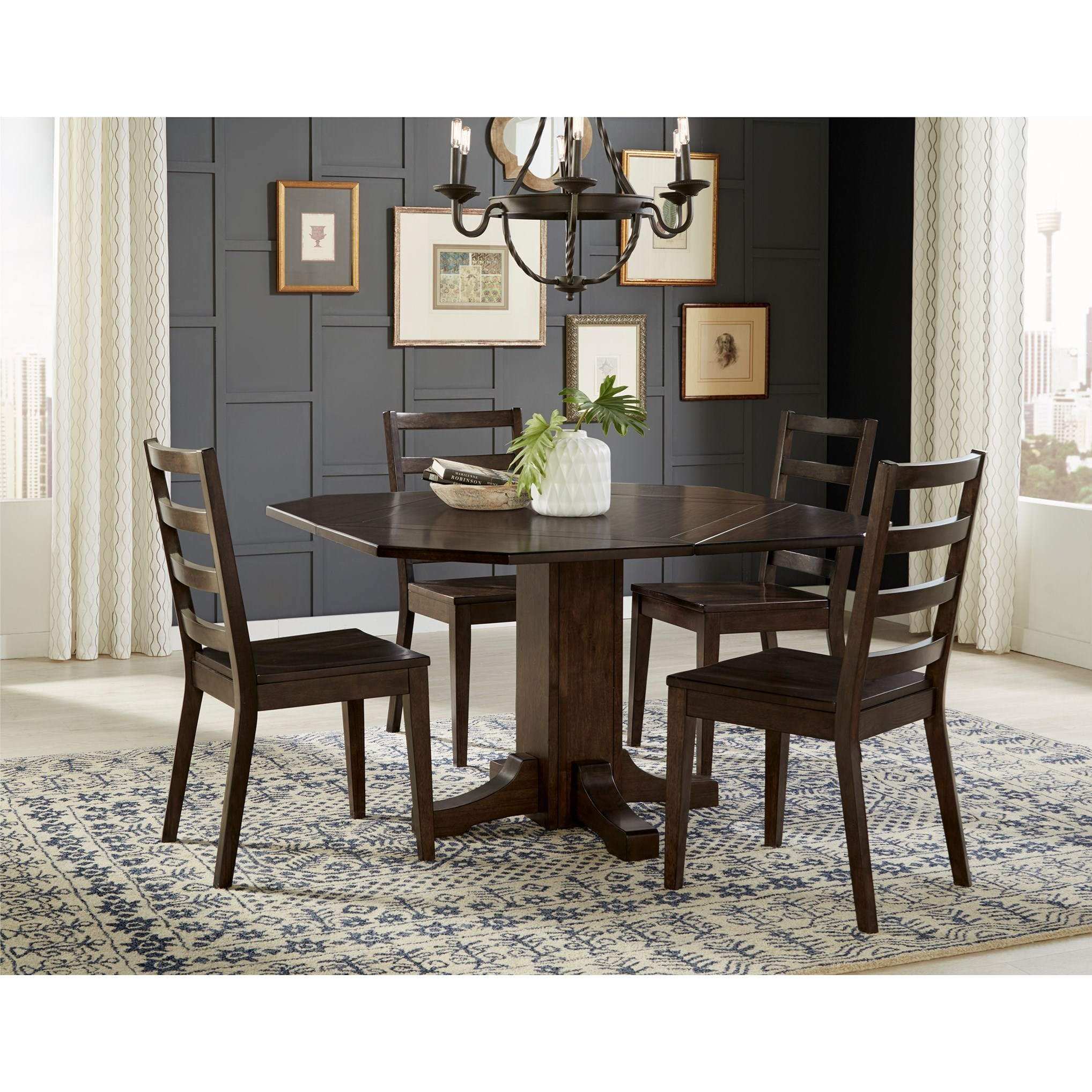 5 Piece Drop Leaf Dining Set