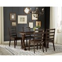 AAmerica Brooklyn Heights 5 Piece Flip Top Dining Set  - Item Number: BRH-WG-6-26-0+4xBRH-WG-2-55-K