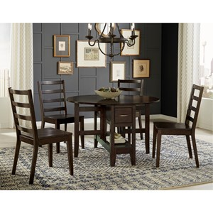 5 Piece Gate Leg Dining Set