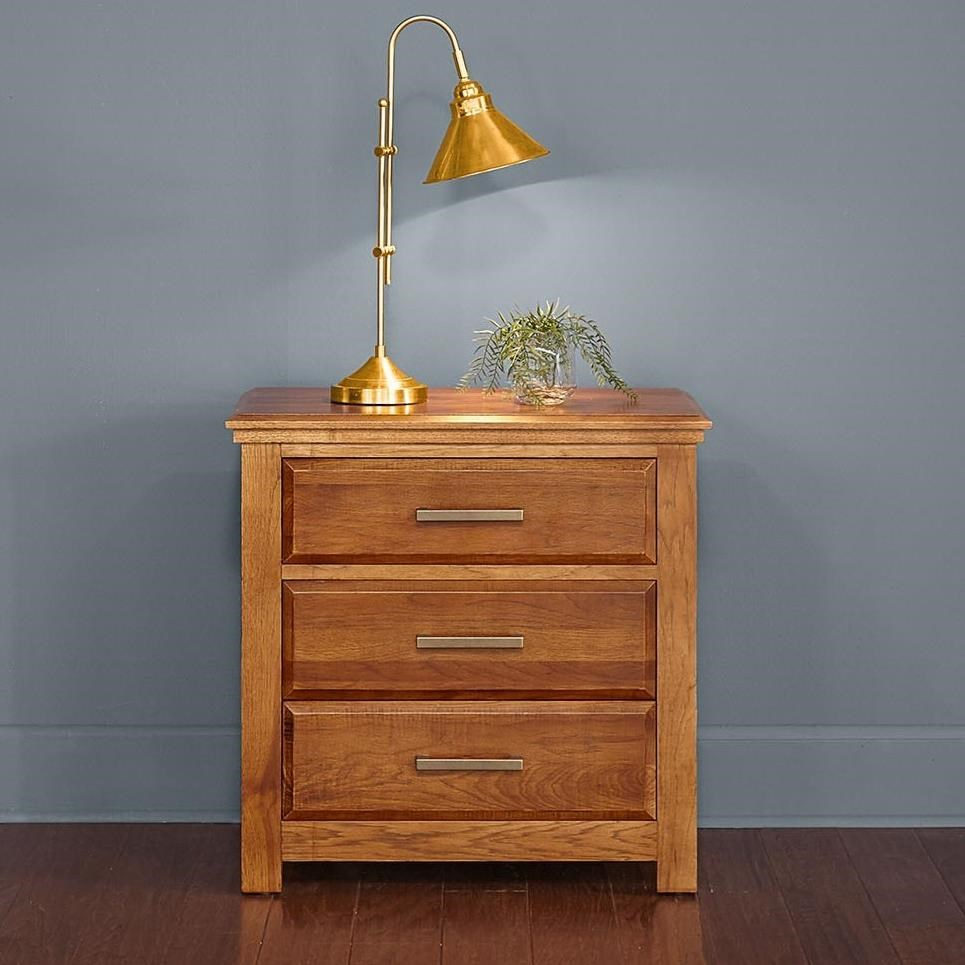 Camas 3-Drawer Nightstand by AAmerica at Zak's Home