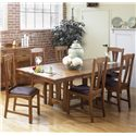 AAmerica Cattail Bungalow Slat Back Comfort Side Dining Chair - Shown with trestle table