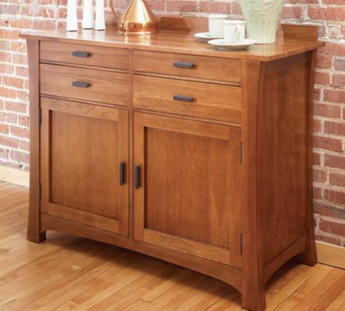 AAmerica Cattail Bungalow 4 Drawer 2 Door Sideboard - Item Number: CAT-AM-9-01-0