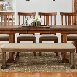 AAmerica Dawson Upholstered Bench