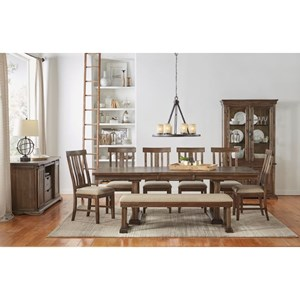 AAmerica Dawson Trestle Table Dining Room Group