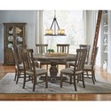 AAmerica Dawson Round Pedestal Table Dining Room Group - Item Number: WT Dining Room Group 2