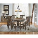 AAmerica Dawson Round Pedestal Table Dining Room Group - Item Number: WT Dining Room Group 3