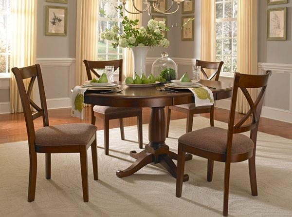 Wayside Dining Room Furniture: AAmerica Desoto Transitional Oval Pedestal Table With 18