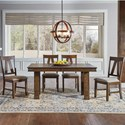 AAmerica Eastwood Dining Trestle Table And 4 Side Chairs - Item Number: EAWGG6310+4x265K