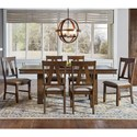 AAmerica Eastwood Dining Trestle Table And 6 Side Chairs - Item Number: EAWGG6310+6x265K