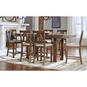 AAmerica Eastwood Dining Counter Height Table And 6 Side Chairs - Item Number: EAWGG6750+6x365K