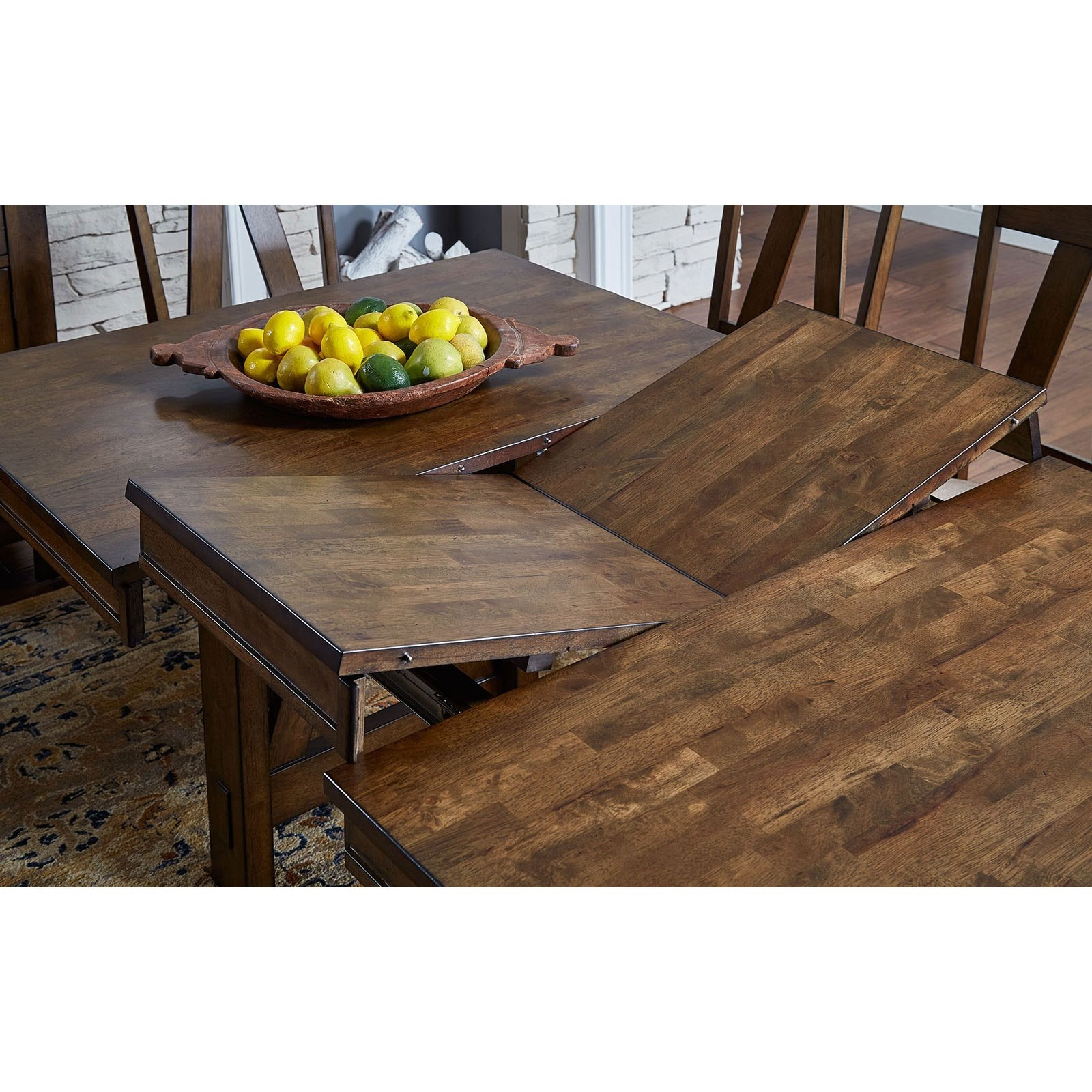 Dining Room Table With Leaf: AAmerica Eastwood Dining Solid Wood Counter Height Table