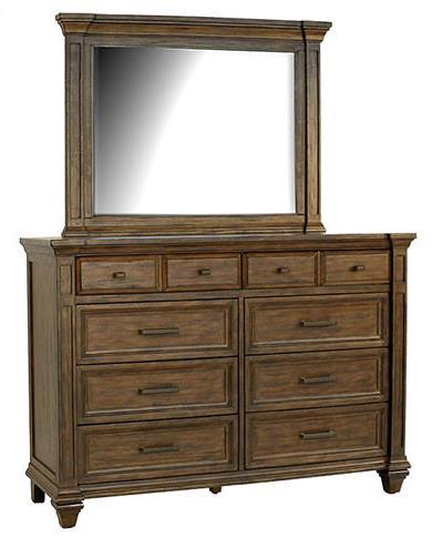 AAmerica Gallatin 8 Drawer Dresser & Mirror - Item Number: GLN-TM-5-50-0+55-0