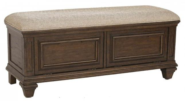 AAmerica Gallatin Upholstered Storage Bench - Item Number: GLN-TM-5-96-0