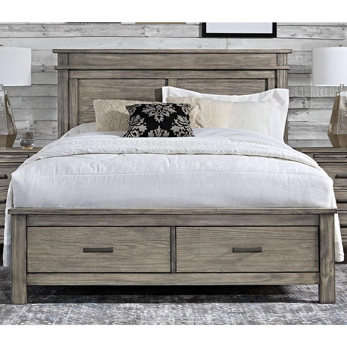 Aamerica Glacier Point Transitional Solid Wood Queen