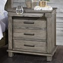 AAmerica Glacier Point Nightstand - Item Number: GLP-GR-5-75-0