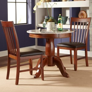 "AAmerica Granite 3 Piece 34"" Round Table and Chair Set"