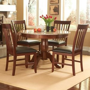 "AAmerica Granite 5 Piece 44"" Round Table and Chair Set"