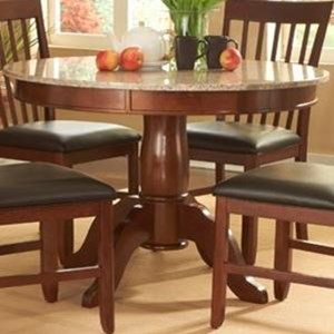 "AAmerica Granite 44"" Round Granite Table"