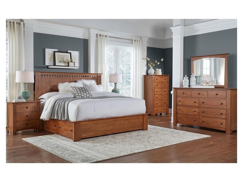 AAmerica Journey 4 Piece King Bedroom - Item Number: B17GU5-K4PC