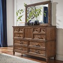 AAmerica Harborside Dresser and Mirror - Item Number: HAB-SV-5-50-0+55-0