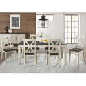 AAmerica Huron Transitional Table and Chair Set - Item Number: HUR-CO-6-09-0+6x2-47-K