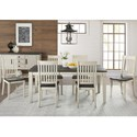 AAmerica Huron Transitional Table and Chair Set - Item Number: HUR-CO-6-09-0+6x2-65-K