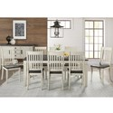 AAmerica Huron Transitional Table and Chair Set - Item Number: HUR-CO-6-09-0+8x2-65-K