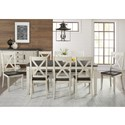 AAmerica Huron Transitional Table and Chair Set - Item Number: HUR-CO-6-09-0+8x2-47-K