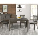 AAmerica Huron Table and Chair Set - Item Number: HUR-DG-6-09-0+4x2-65-K