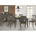 AAmerica Huron Transitional Table and Chair Set - Item Number: HUR-DG-6-09-0+6x2-47-K