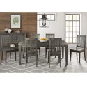 AAmerica Huron Transitional Table and Chair Set - Item Number: HUR-DG-6-09-0+6x2-65-K
