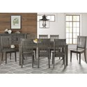AAmerica Huron Transitional Table and Chair Set - Item Number: HUR-DG-6-09-0+8x2-65-K
