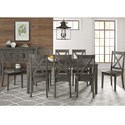 AAmerica Huron Transitional Table and Chair Set - Item Number: HUR-DG-6-09-0+8x2-47-K