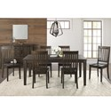 AAmerica Huron Transitional Table and Chair Set - Item Number: HUR-WR-6-09-0+6x2-65-K