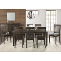 AAmerica Huron Transitional Table and Chair Set - Item Number: HUR-WR-6-09-0+8x2-65-K
