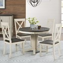 AAmerica Huron Transitional Table and Chair Set - Item Number: HUR-CO-6-10-0+4x2-47-K