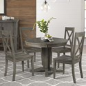 AAmerica Huron Transitional Table and Chair Set - Item Number: HUR-DG-6-10-0+4x2-47-K