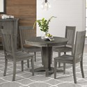 AAmerica Huron Transitional Table and Chair Set - Item Number: HUR-DG-6-10-0+4x2-65-K