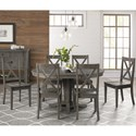 AAmerica Huron Transitional Table and Chair Set - Item Number: HUR-DG-6-10-0+6x2-47-K