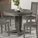 AAmerica Huron Round Pedestal Table - Item Number: HUR-DG-6-10-0