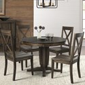 AAmerica Huron Transitional Table and Chair Set - Item Number: HUR-WR-6-10-0+4x2-47-K