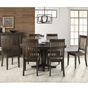 AAmerica Huron Pedestal Table and Chair Set - Item Number: HUR-WR-6-10-0+6x2-65-K