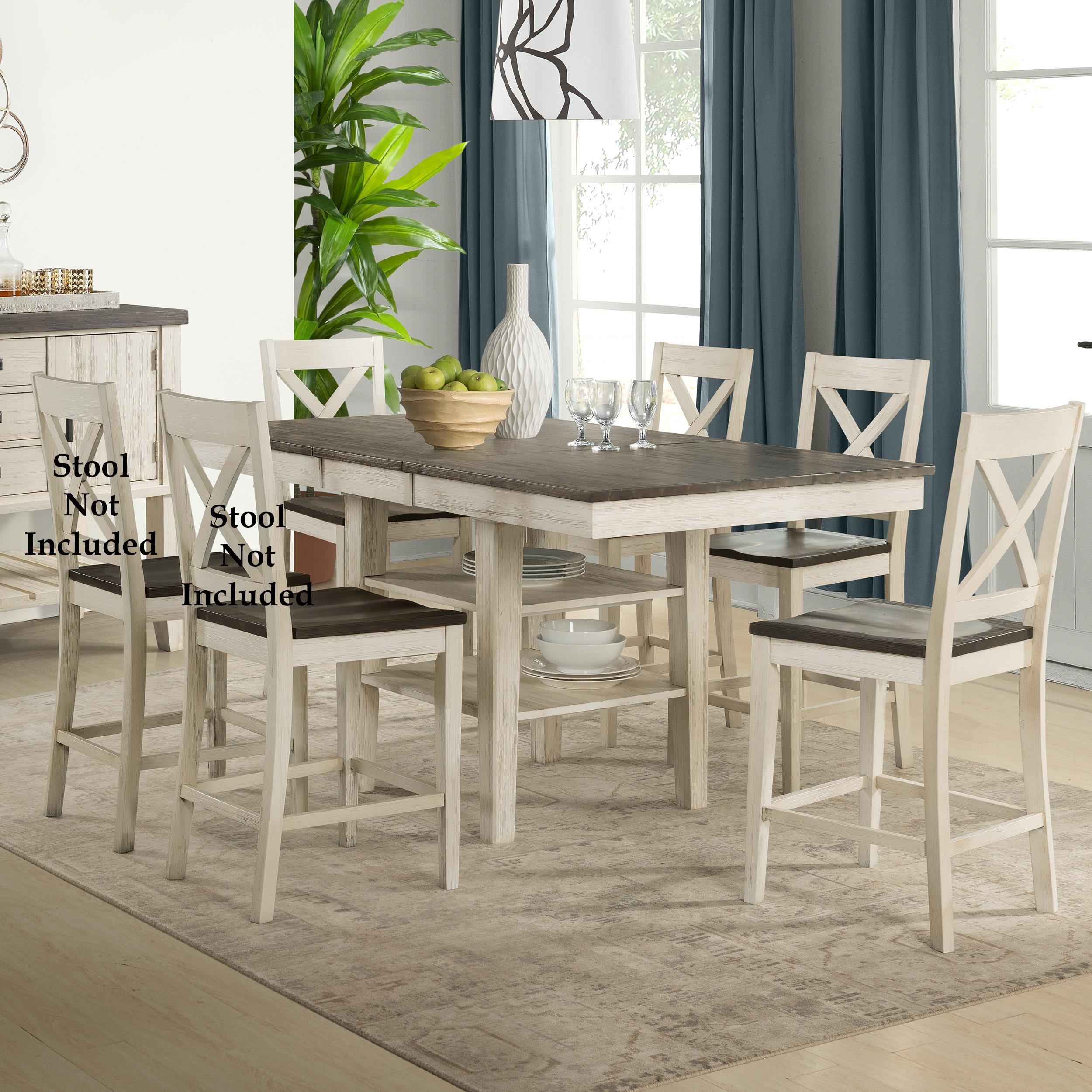 Transitional Counter Height Table and Chair