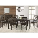 AAmerica Huron Transitional Table and Chair Set - Item Number: HUR-WR-6-09-0+6x2-47-K