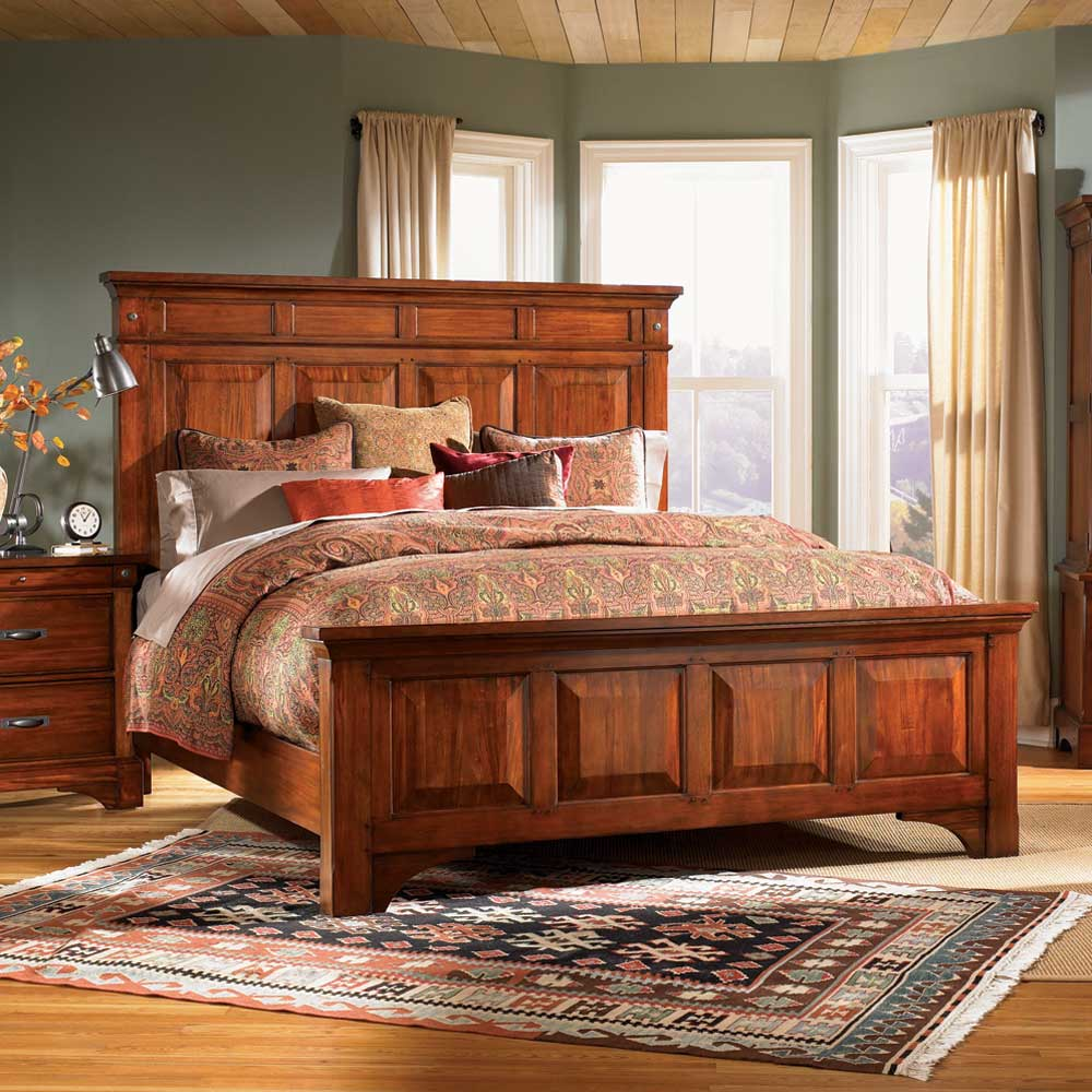 AAmerica Kalispell Queen Wood Mantel Bed - Item Number: KAL-RM-5-03-0