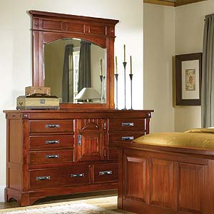 AAmerica Kalispell Dresser & Mantel Mirror