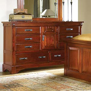 AAmerica Kalispell Dresser with Secret Compartments