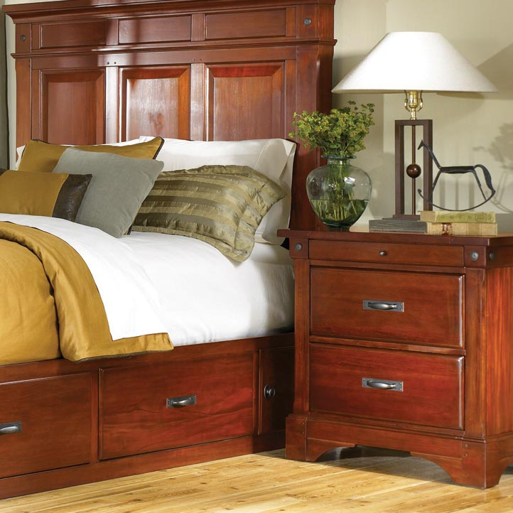 AAmerica Kalispell 2 Drawer Nightstand - Item Number: KAL-RM-5-75-0