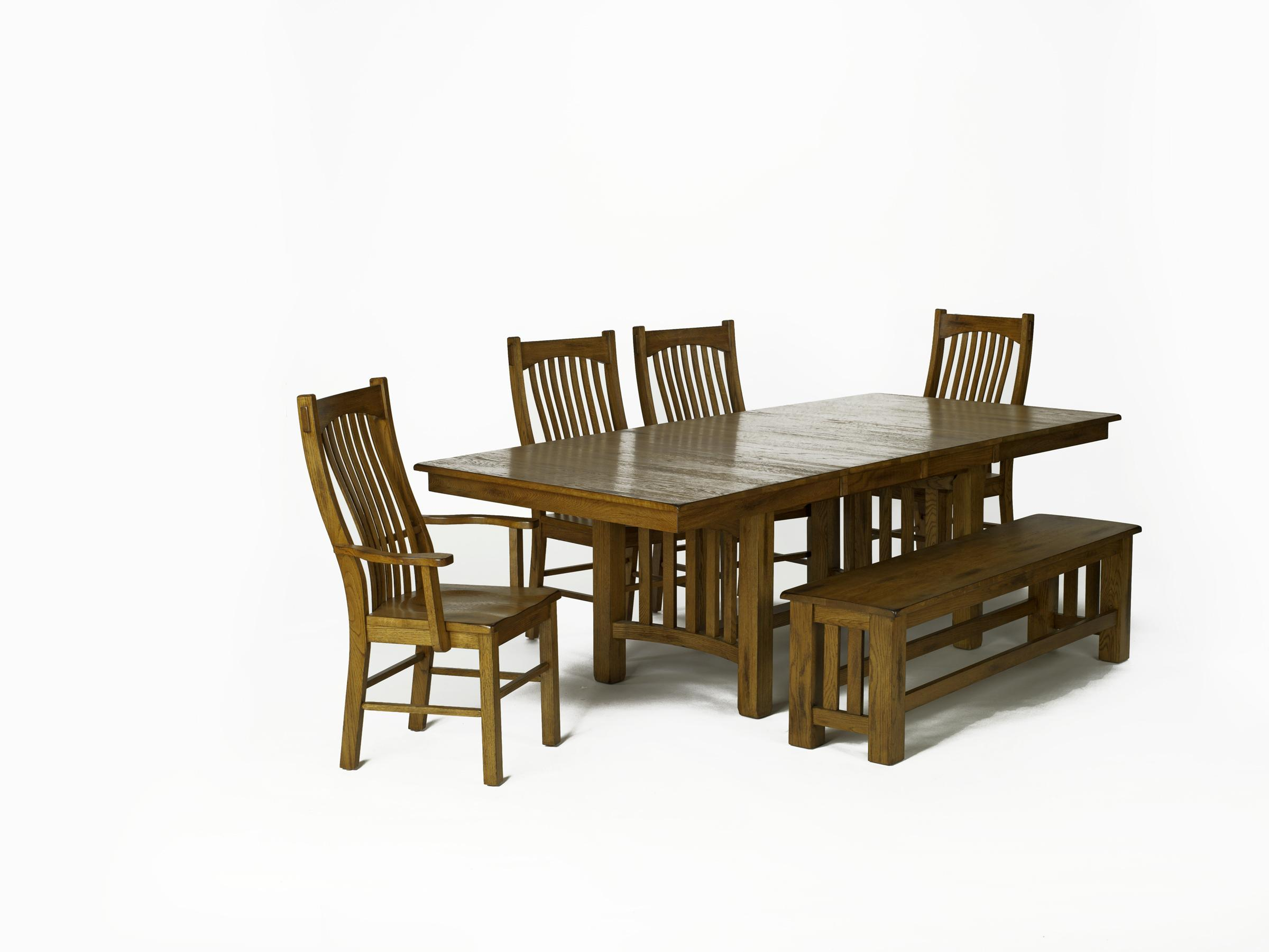 Rectangular Table & 4 Chairs with Bench