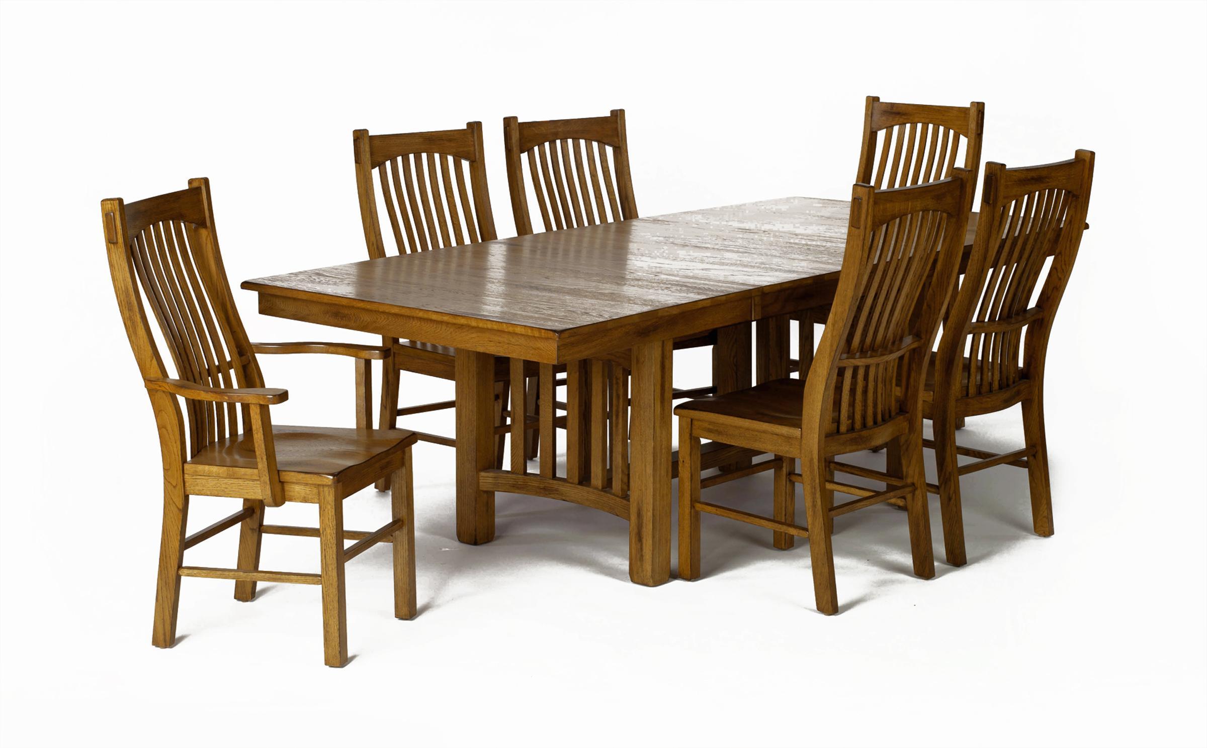 AAmerica Laurelhurst Trestle Table with Self Storing ...